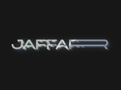 Jaffar Chrome 80s style retrofuturism minimal vaporwave chrometype metal chrome syntwave retrowave retro photoshop vector typography logo design branding 80s 1980s