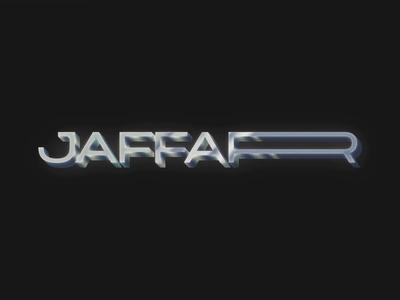 Jaffar Chrome 80s style retrofuturism minimal vaporwave chrometype metal chrome syntwave retrowave retro photoshop vector typography logo design branding 80s 1980s