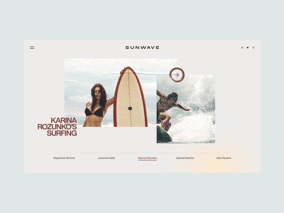 Ui/UX Dailies - Design Inspiration 020 dailyuichallenge clean surfing daily daily ui dailyux dailyui interface typography designinspirations website ux web design web branding minimal design ui