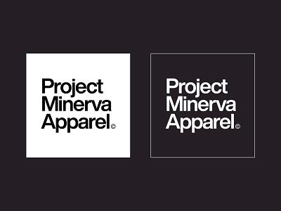 Project Minerva Apparel Logotype apparel logo apparel clothing clothing brand type design logotype brand brand identity web design ui logo vector clean typography designinspirations branding minimal design