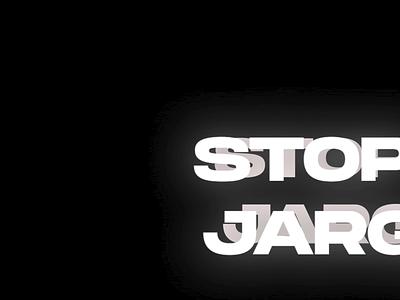 Stop the Jargons - Playaround motion graphic motion graphics motion inspiration dailyinspiration playarond stop jargons aftereffects motion typography motion design motiongraphics motion illustration typography designinspirations branding minimal design