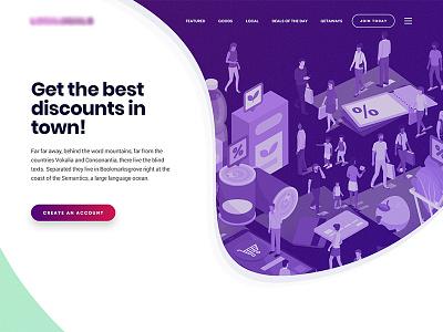 Deals / Coupons Website promotions offers deals coupons illustration web design web ux ui design