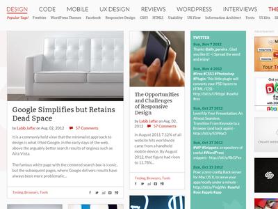 Blog Navigation and Articles