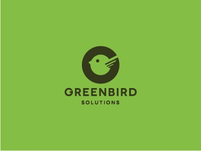 Green Bird Logo green bird g g letter logo icon flat letter negative space friendly modern