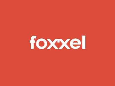 Foxxel orange logo foxel font typography type albania foxxel negativespace fox