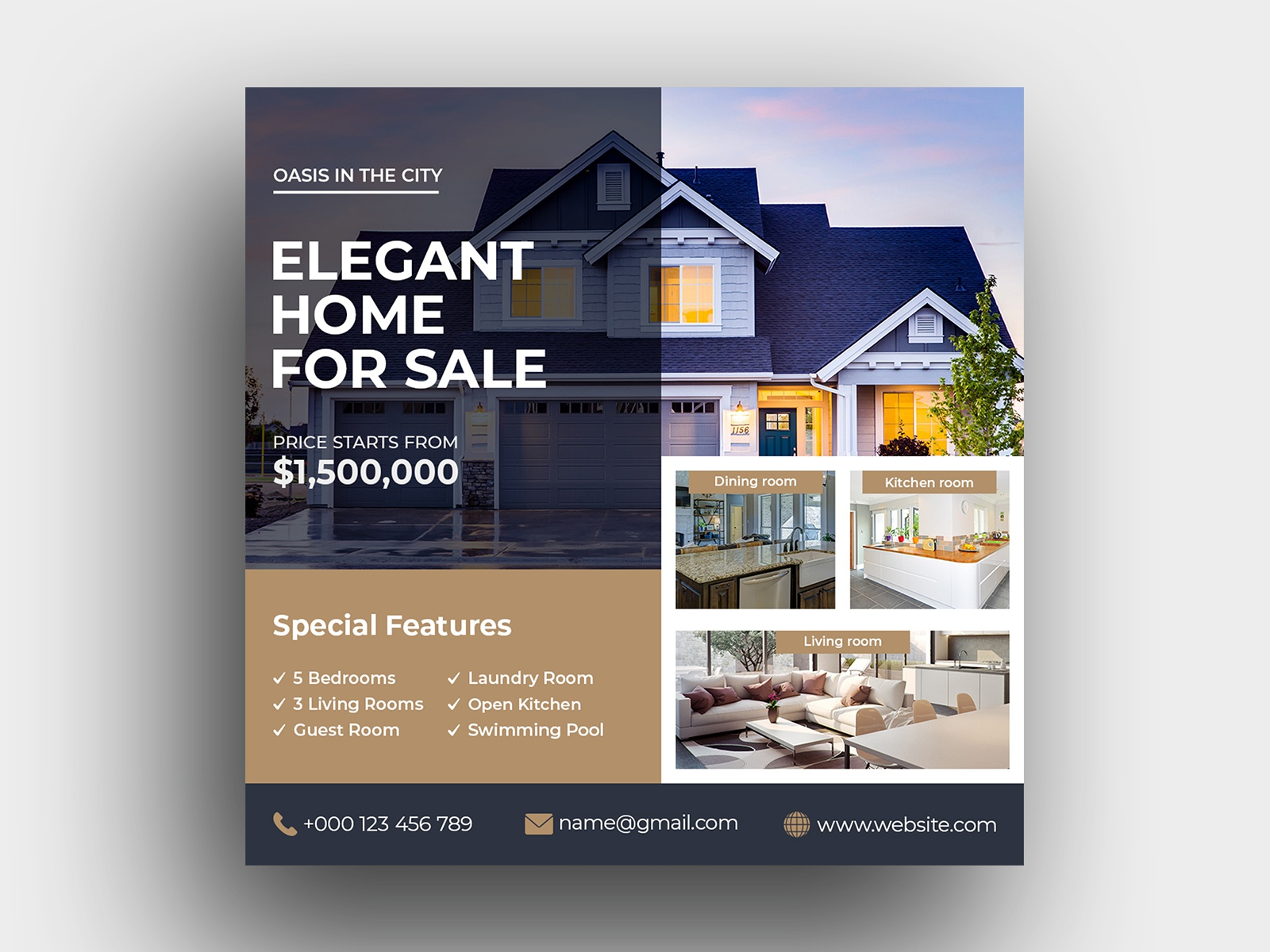 Real Estate Social Media Banner Template By Firoz Ahmed On Dribbble