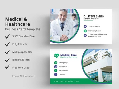 Medical Healthcare Business Card Template