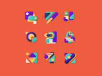 Shapes composition shape vector abstract