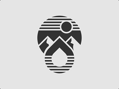 Natural Drop mark logo monogram