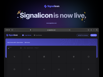 Signalicon is now live! signalsupply signalicon icon