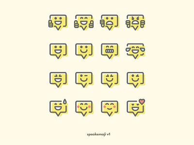 speakemoji V1 / Batch 1 emoji smiley vector icon emoticon