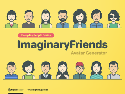 ImaginaryFriends Avatar Generator people avatar illustration vector