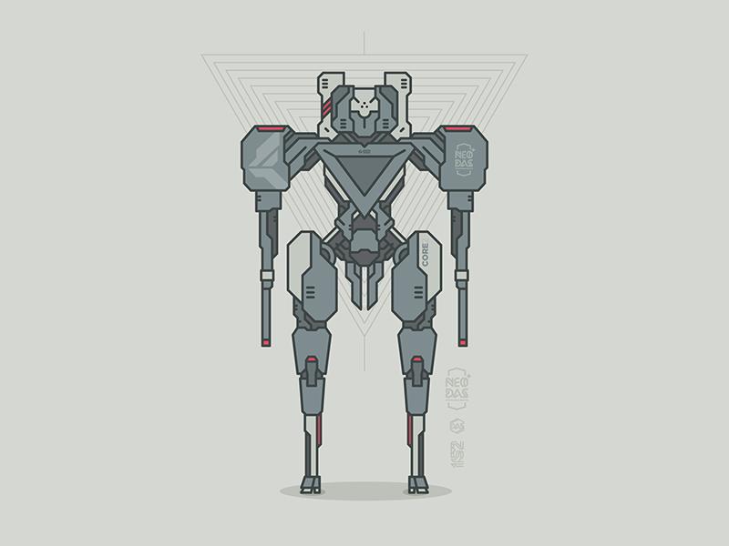 DAS[CORE2] // NEO:DAS vector illustration robot dasrobot