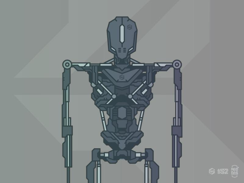 DAS [Proto_Framework] // NEO:DAS vector illustration robot dasrobot
