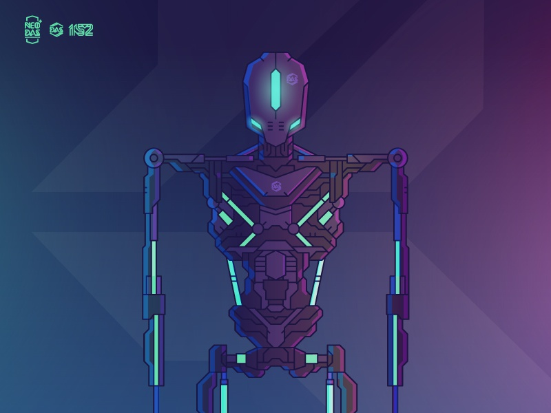 DAS [Proto_Framework] NEON VERSION // NEO:DAS vector illustration robot dasrobot