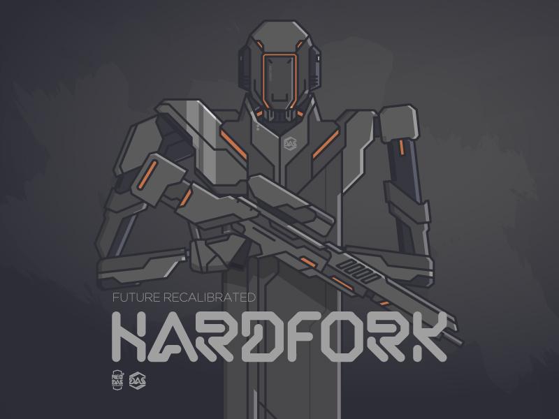HARDFORK // NEO:DAS vector illustration robot dasrobot