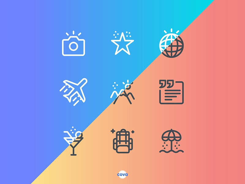 Cova Instagram Story Highlight Cover vector icon