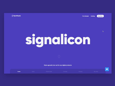 Signalicon Product Page icon set iconset icon ui website