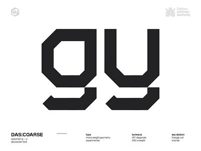 DAS:COARSE - g_y futuristic dasrobot dastype typography