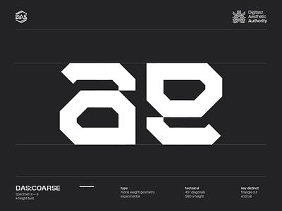 DAS:COARSE - a_e typography futuristic dastype dasrobot