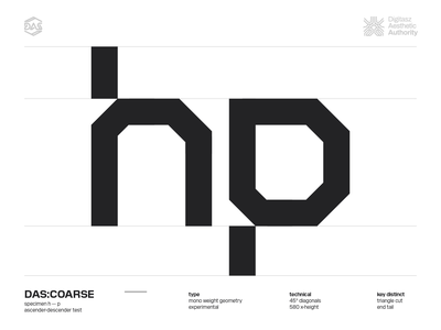 DAS:COARSE - h_p futuristic dastype dasrobot typography