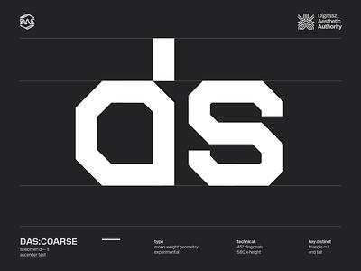 DAS:COARSE - d_s futuristic dastype dasrobot typography