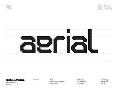 DAS:COARSE - Word + Spacing kerning spacing futistic dastype dasrobot typography
