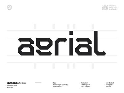 DAS:COARSE r_l adjustment typedesign type design futuristic dastype dasrobot typography