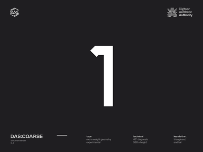 DAS:COARSE - Numbers geometric futuristic dastype dasrobot numbers typography
