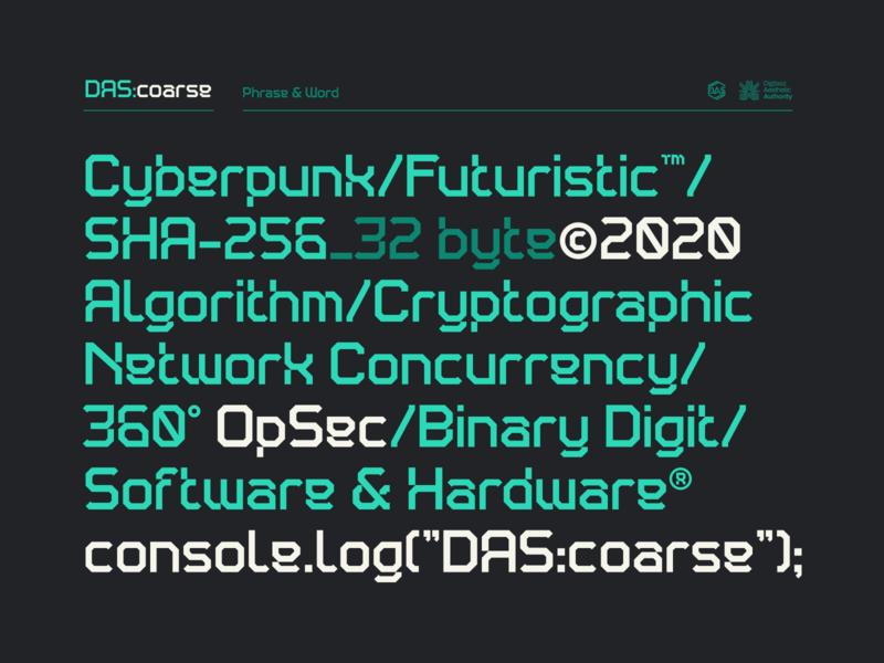 DAS:coarse font