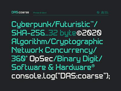 DAS:coarse font dastype geometric futuristic dasrobot typography font