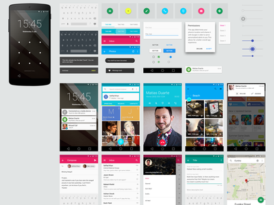 Android L GUI KIT free psd icon design button ui flat slider android l xxhdpi grid material design