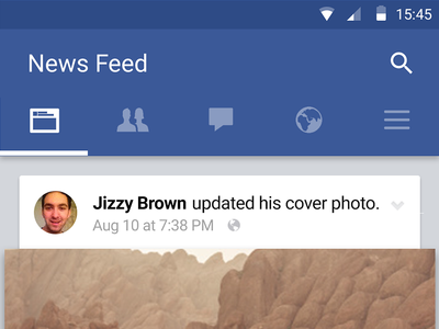 Facebook Material Design facebook material design android gui psd design