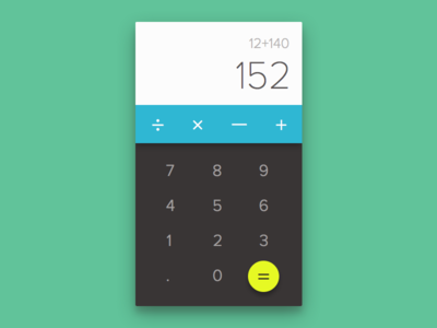 Calculator - 004 Daily UI flat design app simple clean daily ui calculator