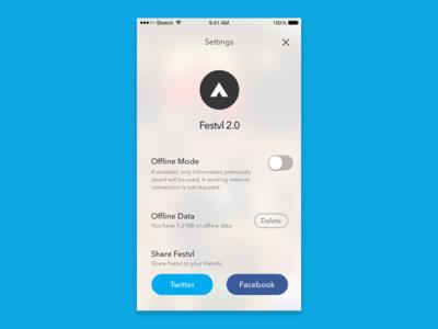 Settings - 007 Daily UI share festival app setting daily ui