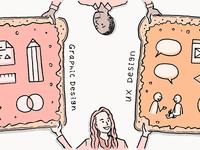 Like Peanut Butter and Jelly – Adobe Blog Illustration