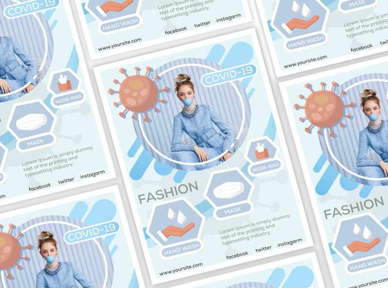 Covid 19 Fashion Flyer Design