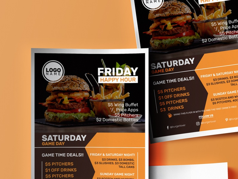 Friday Burger Flyer Designs Themes Templates And Downloadable Graphic Elements On Dribbble