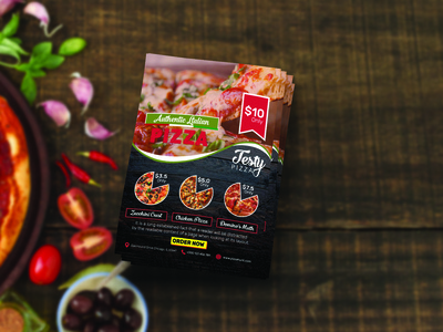 Free Pizza Flyer with Psd Mockup