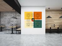 Fibonacci Sequence Inspired Wall Art