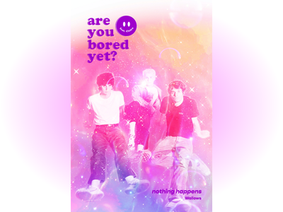 are you bored yet? typography pink design poster design drawing album art
