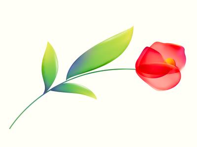 Rose flat rose city flora rosary rosecity portland illustration gradient floral flower rose