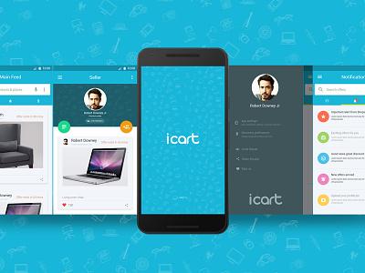 icart sample andriod design for eCommerce nexus 5x shopping app nexus app design moile app andriod app design