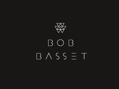 Logo for Bob Basset logo leather black triangle minimal clean circle