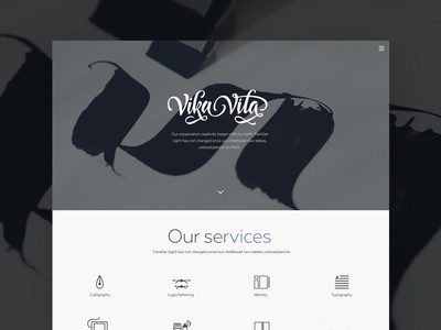 Site for VikaVita  calligraphy site website grey minimal clean responsive