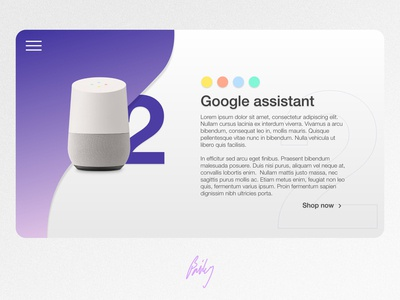 Google Assistant - website mockup