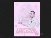 Larry Lovestein science heart pink love rip rapper celebrity design swissposters swissposter graphicdesign graphics posters poster mac macmiller lovestein larrylovestein larry