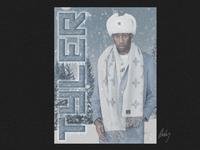 Tyler the Creator singer rapper graphicdesign design cold winter soviet snow russian swissposter swissposters poster designer poster design poster feliciathegoat wolfhaley tylerthecreator yonker igor tyler