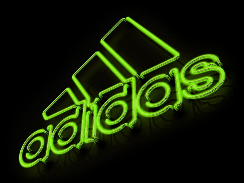 Neon Adidas Logo glow adidas 3d neon
