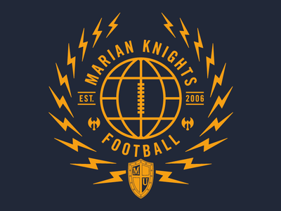 Lightning Bolt Laurels laurel globe bolts lightning hatchet axe football knights marian